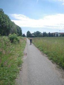 on my bike