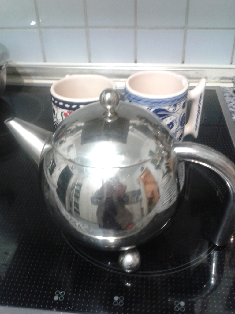 our pot of tea in the morning