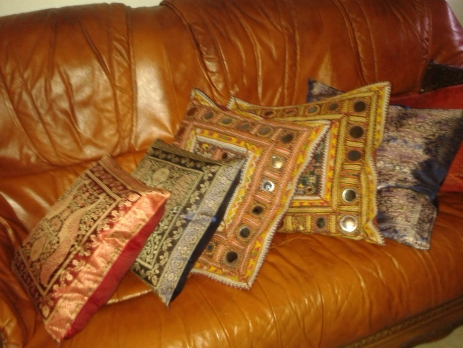 souvenirs from our trip - cushion covers