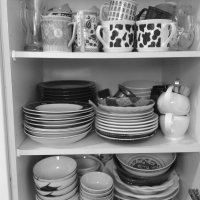 Cee's Black & White Photo Challenge: Things Found in a Kitchen
