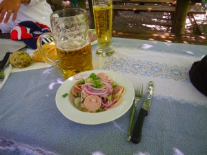 beer and wurstsalat