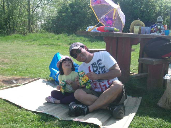 Having a Picnic With My Dad