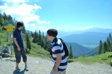 hiking in Kampenwand