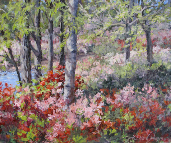 Painting - Stars of Spring by L Diane Johnson