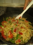 pancit with beef and vegetables - for long life!