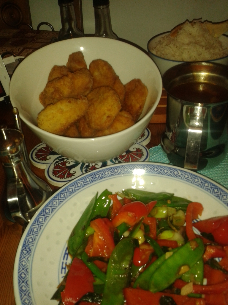 sweet & sour pork, veg plus rice