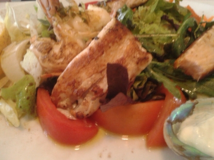fish and salad for lunch