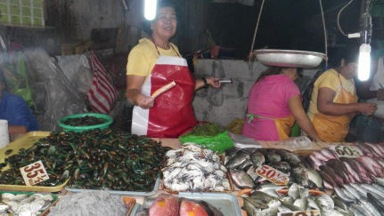 fish and sea food in the market