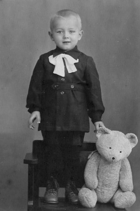 Russian Boy with Bear by Unknown