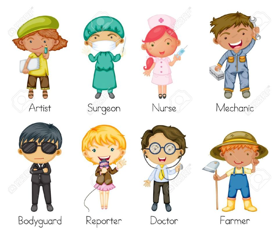 15913053-Illustration-of-a-jobs-and-professions-Stock-Vector-cartoon