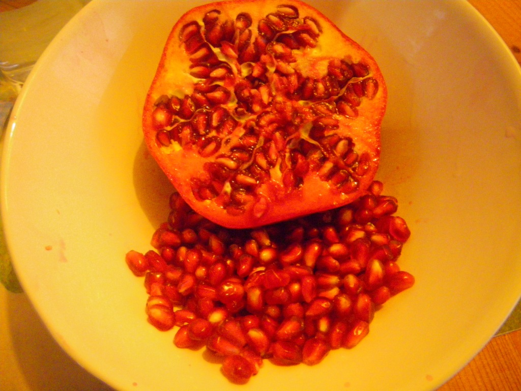 my breakfast this morning - pomegranate