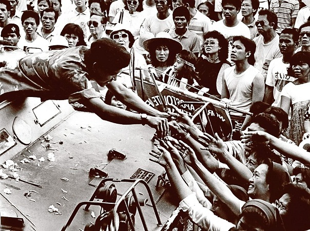 reaction about edsa revolution Edsa 1, also known as people power 1, was the four-day non-violent uprising in february 21-25, 1986 led to the ouster of dictator ferdinand marcos and the installation of corazon aquino as the country's new president.