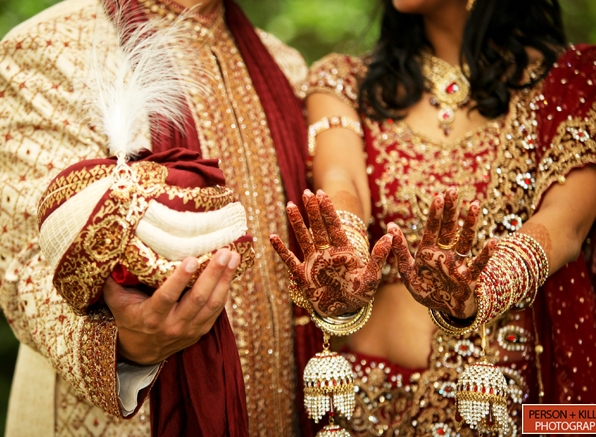 Indian Wedding Safa and Jewelry