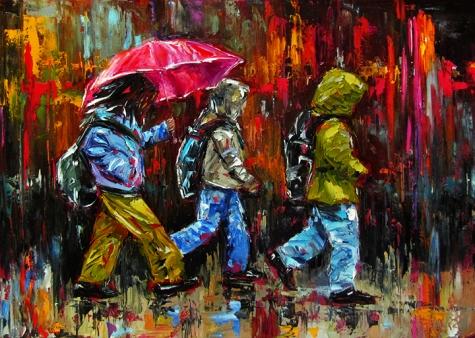 children_in_rain_painting_umbrella_art_figurative__5652c1911ad9961d9954914d67b6efbe