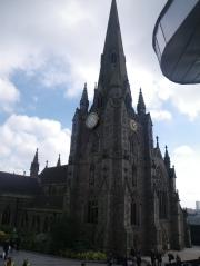 circle, spire, triangle