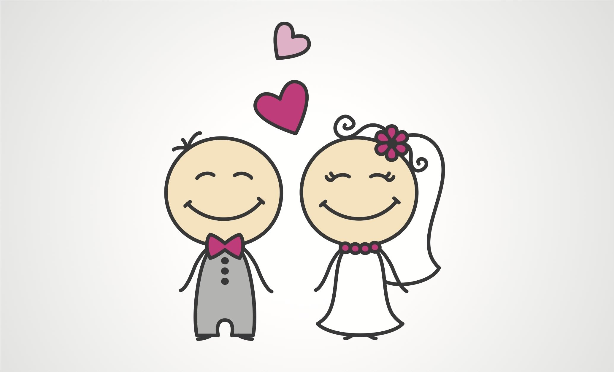 Newly Married Couple Cartoon Marriage Wishes Picture Ladyleemanila